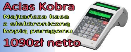 Najtańsza kasa z kopią elektroniczną Aclas Kobra