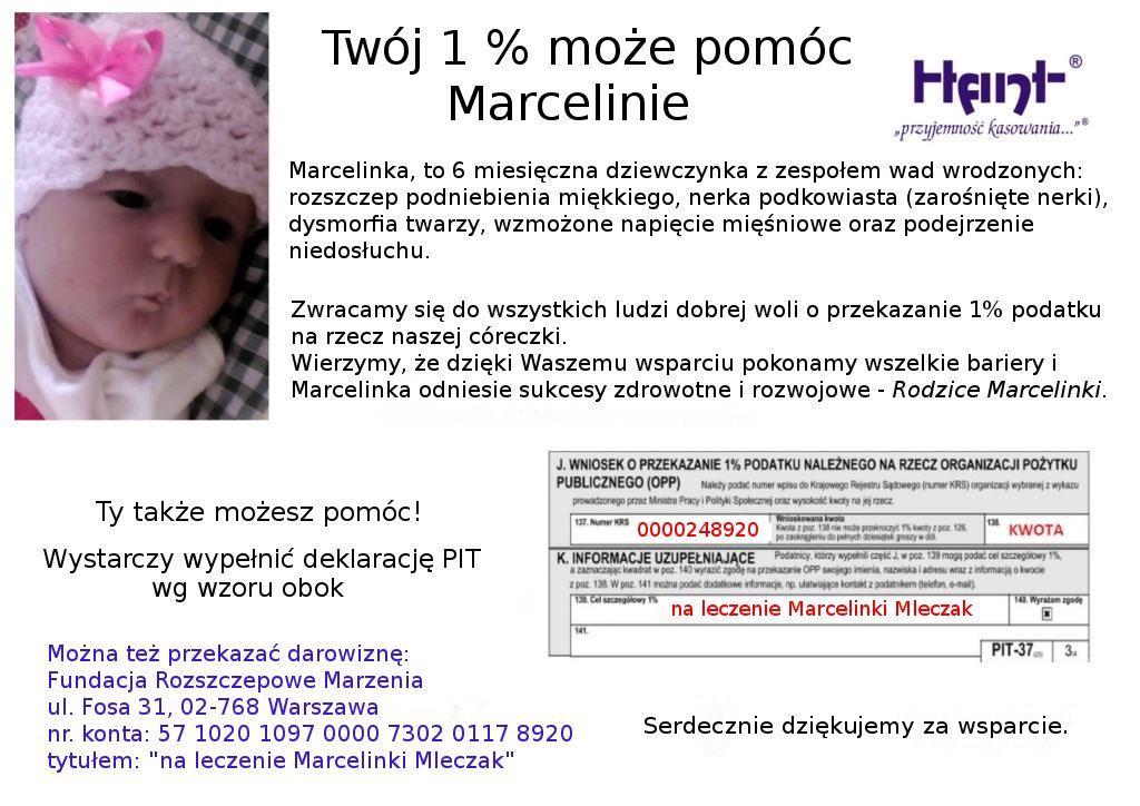 Marcelinka 1% podatku pomoc